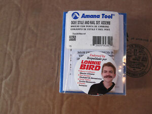 Amana Tool Router Bit 55350 Ogee Stile And Rail Set New
