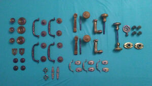 Vintage Solid Brass Door Knobs And Other Accessories 57 Pieces