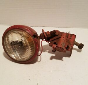 Vintage Red Guide Tractor Light