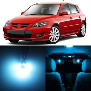 8 X Ice Blue Interior Led Lights Package For 2004 2009 Mazda 3 tool