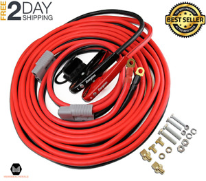 Battery Jumper Cables Permanent Installation Kit With Quick Connect Plug 1 Gauge
