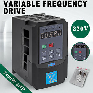 2200w 3hp Vfd 10a 220v Single Phase Speed Variable Frequency Drive Inverter New
