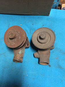 1932 1936 Ford V8 Flathead Engine L r Water Pumps Pulley Used