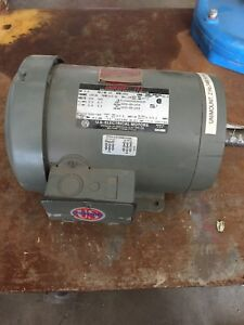 Us Electrical Motors Unimount 125 2 Hp 3460 Rpm 3 Phase 230 460 Volts