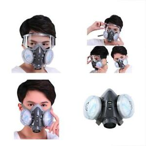 Safety Masks Chemical Anti dust Respirator W goggles Set