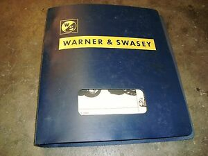 Warner Swasey Forklift Parts Book Parts Price List Operators Manual