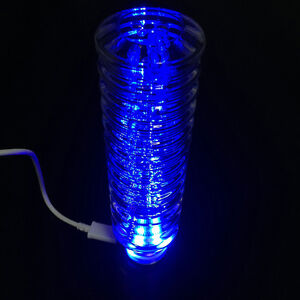 Led Blue 150mm Clear Bubble Gear Stick Drift Shift Knob Cool For Automatic Car
