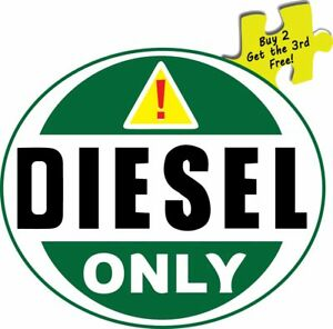 Warning Diesel Fuel Only Oval Decal Bumper Sticker 3 5x4 P216