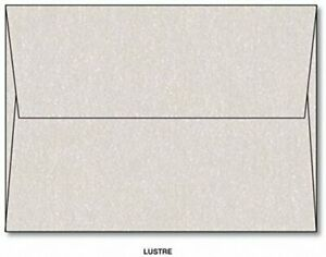 Metallic Lustre A7 Envelopes 7 25 X 5 25 Square Flap Pack Of 100