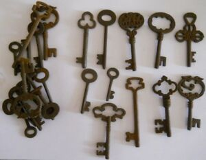 Rusty Ornate Skeleton 1800 S Style Keys 25 Pc Lot Steampunk 220725