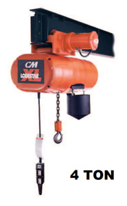 Cmco Lodestar Xl Electric Chain Hoist With Motorized Trolley 4 Ton Capacity