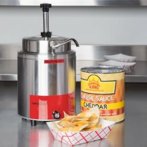 3 5 Qt 10 Can Warmer Pump Hot Fudge Chili Nacho Cheese Commercial Dispenser