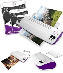 Purple Cows Hot And Cold Laminating Machine Fast Warms Up 3 5 Min 50 Pouches 9