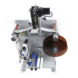 150w Round Bottle Labeling Machine Labeler Semi automatic Soda Can Label Packing