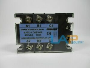 1pc New Three Phase 3phase Dc Ac Solid State Relay Ssr 100a Sjgx 3 D48100a zmi