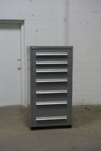 Used Lyon 7 Drawer Cabinet Industrial Tool Storage 1305 Vidmar
