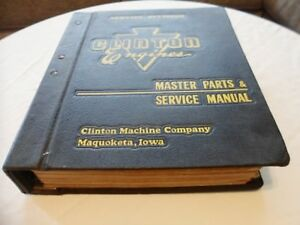Rare Huge 1950s Clinton Gas Engine Master Parts Service Manual Vintage