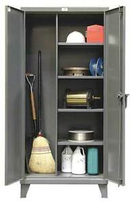 Janitorial Storage Cabinet welded 12 Ga Strong Hold 46 bc 244