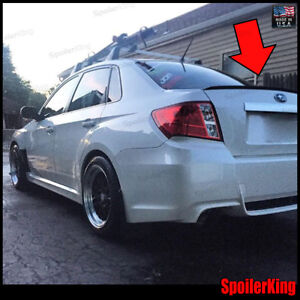 Rear Trunk Lip Spoiler Wing fits Subaru Impreza 2007 11 4dr Spoilerking 244l