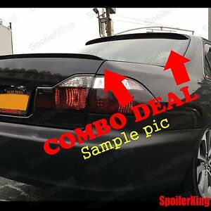 Combo Spoilers Fits Nissan Sentra 1995 99 4dr Rear Roof Wing Trunk Lip