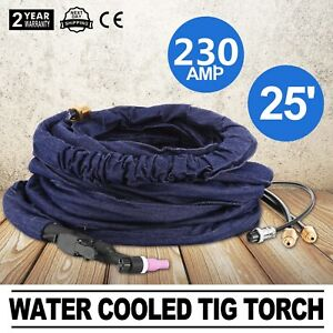 25 Wp 20 Water Cooled Tig Torch 230amp 35 Duty Circle 7 L min 230amp Brand New