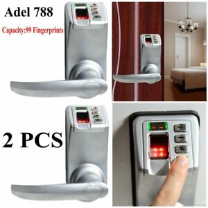 2x Adel Diy 788 Fingerprint Door Lock Biometric Keyless Keypad Password Oy