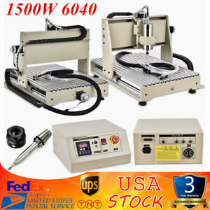 3 Axis Cnc Router Engraver Milling Machine Engraving Drilling 6040 Desktop Sale