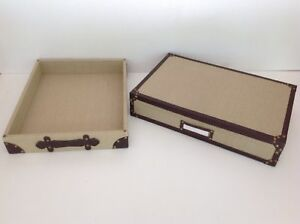 Pottery Barn Hawthorne Flat Paper Storage Box And Desk Tray Set Sold Out At Pb
