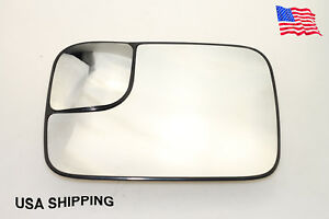 Dodge Ram 2500 3500 W Heated Power Towing Mirror Glass Left Driver Side Usa Ship