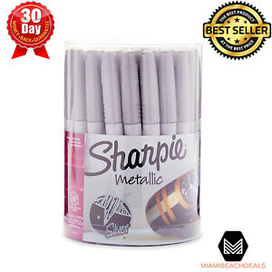 Metallic Permanent Markers Fine Point Fast Drying Fade Resistant Silver 36 Pack