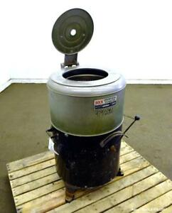 Used Bock Centrifugal Extractor Model 24 b c 17 Diameter X 9 Deep Alloy 400