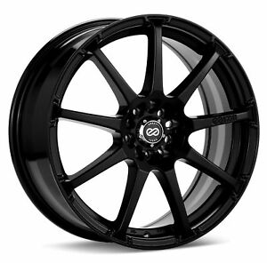 1 Enkei Edr9 Wheel Rim 17x7 4x100 4x114 3 45mm Black Paint
