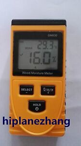 Non destructive Wood Timber Damp Moisture Temperature 2in1 Meter Detector Tester