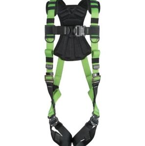 Vest Safety Harness New Body Fall Protection Snap in Easy Wear Green Harness