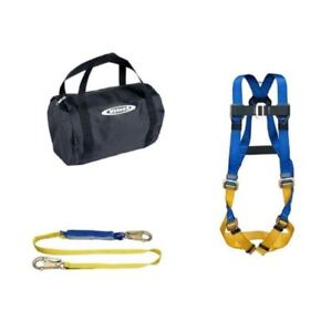 Aerial Safety Kit 6 Ft Decoil Lanyard Basewear Std Harness Body Protection