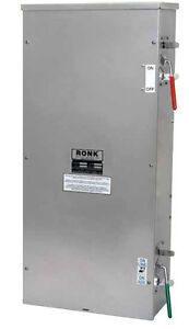 Double Throw 400 Amp Generator Transfer Switch Fused Disconnect Combo Ronk 7426