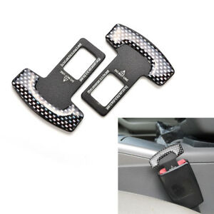 1 Pair Car Seat Belt Stop Alarm Eliminator Canceller Safety Insert Buckle Plug