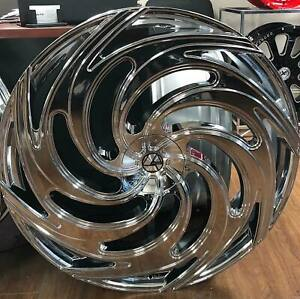 30 Inch Chrome Velocity V11 Wheels Rims 24 26 28