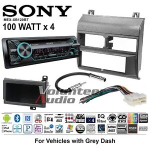 Sony Mex Xb120bt Car Stereo Radio Bluetooth Cd Player Dash Install Kit 100w X 4