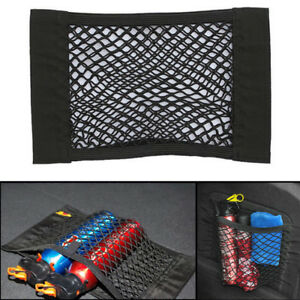 Universal Car Seat Side Back Storage Net Mesh Bag Phone Holder Pocket Organizers