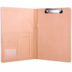 Plinrise Waterproof Pu Leather Binder File Folder With Tight Metal Clip For