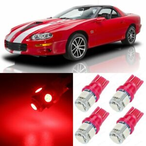 11 X Ultra Red Interior Led Lights Package For 1993 2002 Chevy Camaro tool
