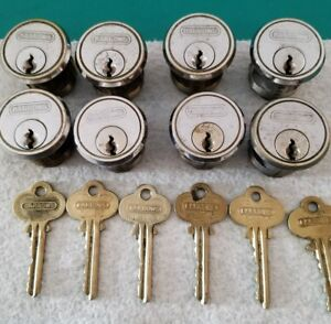 Barrows 6pin Cylinder Mortise Locks Set Of 8 6 Master Keys