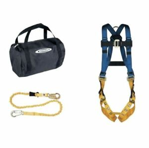 Aerial Kit tongue Buckle Legs Basewear Safety Harness And 6 Ft Softcoil Lanyard