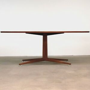 Edward Wormley Oval Teak Table Desk By Dunbar Mid Century