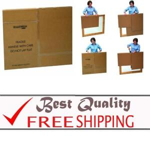 Moving Boxes For Tvs Pictures And Mirrors Adjustable 40x60x4 Inches 3 Pack