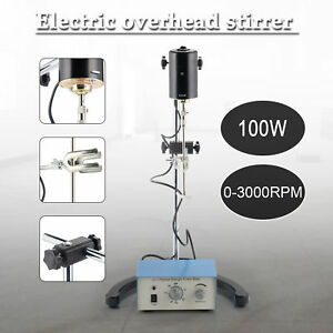 Lab Mechanical Mixer 0 2000 Rpm Overhead Magnetic Stirrer With Stir Shaft 100w