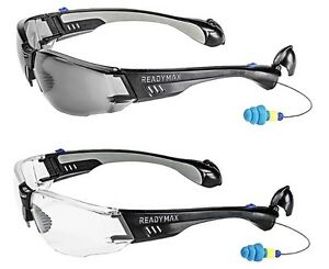 Lot 5pc Readymax Construction Safety Glasses With Earplugs Eye Ear Protection
