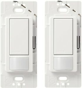 Indoor Programmable Maestro Motion Sensor Switch 2 Amp Single Pole White 2 Pack