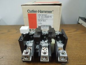 Cutler Hammer 10 3563 5 Overload Relay Type St Eutectic Size 3 Citation Surplus